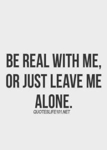 be real or leave